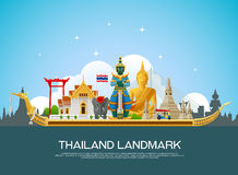 Thailand landmark travel vector Stock Photography