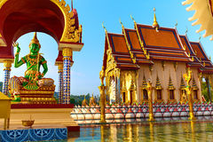 Thailand Landmark. Wat Phra Yai Temple Sunset. Travel, Tourism. Stock Image