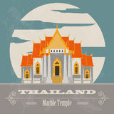 Thailand landmarks. Retro styled image Royalty Free Stock Images