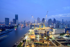 Thailand Landscape : Construction site in Bangkok Royalty Free Stock Image