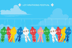 Thailand lanna lamp Royalty Free Stock Photos