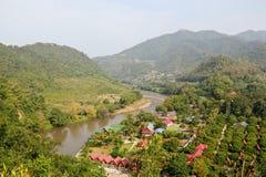 Thailand lantligt landskap Royaltyfria Foton