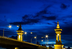 Thailand and laos bridge Royalty Free Stock Image