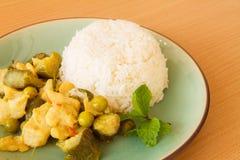 Thailand-Lebensmittel Grüncurry Stockbilder