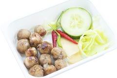Thailand-Lebensmittel, Isaan-Wurst Lizenzfreies Stockbild