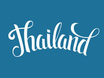 Thailand lettering poster Royalty Free Stock Photos