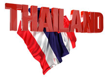 Thailand letters with flag 3d rendering Stock Photos