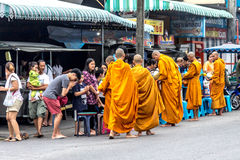 Thailand lifestyles began the day with the monks. According to B Royalty Free Stock Photography