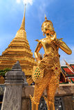Thailand literature. The characters in literature, Thailand Temple of the Emerald Buddha . Or commonly known as the Temple of the Emerald Buddha in Bangkok and Royalty Free Stock Photo
