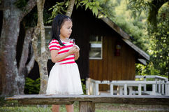 Thailand little girl. Stock Images