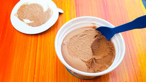 Thailand local chocolate ice cream. The popular local food in local festival stock images