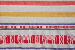 Thailand local cotton stripe textiles Stock Photos