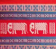 Thailand local cotton stripe textiles Stock Image