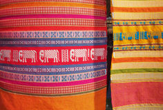 Thailand local cotton stripe textiles Stock Images