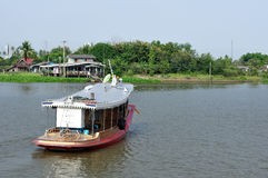 Thailand local wooden boat in river. Stock Images