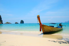 Thailand long boat. In paradise royalty free stock photography