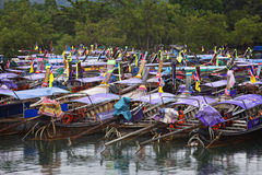 Thailand: Long tail boats Stock Photos
