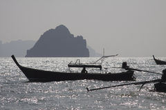 Thailand: Long tail boats Royalty Free Stock Photography