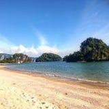 Thailand longboat beach. Hot night Thailand sea Royalty Free Stock Photos