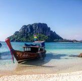 Thailand longboat. Hot night Thailand sea Stock Image
