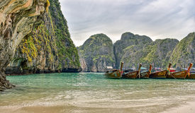 Thailand longboats in natural scenery Stock Photo