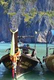Thailand longtailfartyg royaltyfri fotografi