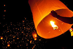 Thailand, Loy Krathong en het Festival van Yi Peng Royalty-vrije Stock Afbeelding