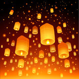Thailand, Loy Krathong and Yi Peng Festival Royalty Free Stock Images