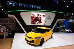 Hyundai Veloster op vertoning Stock Foto's