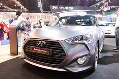 Hyundai Veloster Turbo op vertoning Stock Foto's