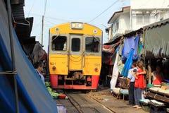 Thailand Maeklong Train Market Royalty Free Stock Photography