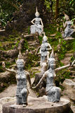 Thailand. Magic Secret Buddha Garden Statues In Samui. Travel, T Royalty Free Stock Photos