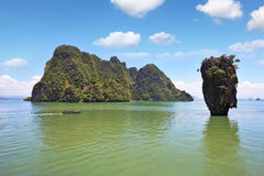 Thailand. The magnificent island of James Bond Royalty Free Stock Photography