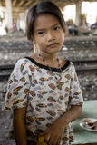 Thailand many peoples live along the railroad tracks or in slums Stock Photography