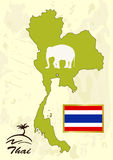 Thailand map Stock Photography
