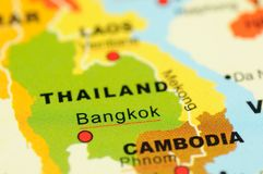 Thailand on map Stock Image