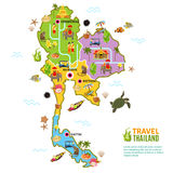 Thailand Map Poster Royalty Free Stock Image