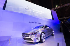 Mercedes Benz Concept Style Coupe on display Royalty Free Stock Images