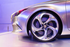 Mercedes Benz Concept Style Coupe on display Royalty Free Stock Photo