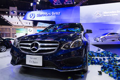 Mercedes Benz The new E-Class on display Royalty Free Stock Images