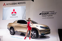 Mitsubishi Concept GR-HEV on display Royalty Free Stock Photos