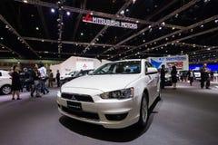 Mitsubishi Lancer EX on display Stock Images