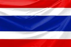 Thailand-Markierungsfahne stock abbildung