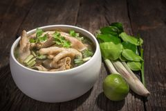Thailand mat, feg fot kryddig soppa royaltyfri fotografi