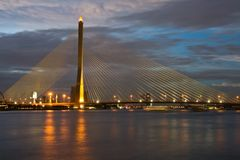 Thailand Mega Sling Bridge Stock Photos