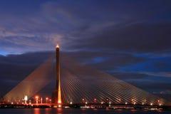 Thailand Mega Sling Bridge,Rama 8 Bridge Royalty Free Stock Images