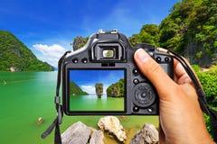 Thailand met de camera stock foto's
