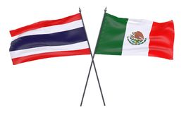 Two crossed flags Royalty Free Stock Photography