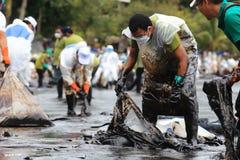 Thailand-milieu-olie-VERONTREINIGING Royalty-vrije Stock Afbeeldingen