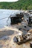 Thailand-milieu-olie-VERONTREINIGING Stock Foto's